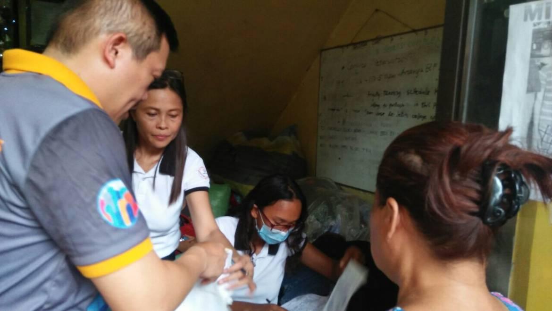 Intervention suite à l'incendie du Barangay Ermita